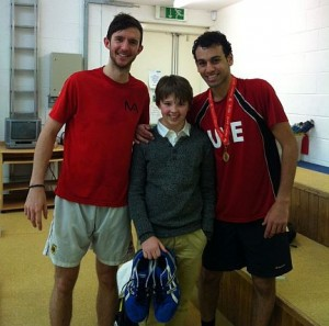 Ollie Stewart with Mohamed Elshorbagy and Eddie Charlton